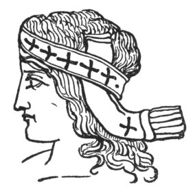 Bacchus Babylonian Messiah head band covering a person